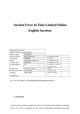 Auction Fever in Time Limited Online English Auctions