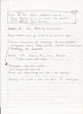 BUS ADM 322 Lecture Notes on The Marketing Environment