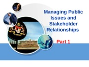 Ch 2 bobby - Managing Public Issues