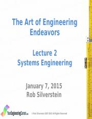 185W15 Lecture 2 System Engineering POST