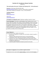 Course syllabus 2013 Nutr 101 FINAL