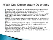 Documentary Questions