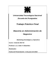 UTN Trabajo Final Marketing Estratégico y Op 2018.doc