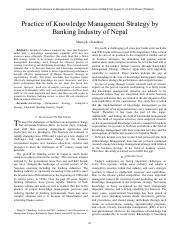 White Paper on  Knowledge Management Strategy by Banking Industry of Nepal_295102470