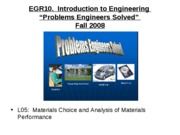 L05   Materials Choice and Analysis of Materials Performance