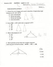 quiz 1 geometry by mcdougal