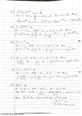Calculus Integrals in sine and Cosines Lecture Notes