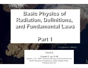 011111 - Basic Physics of Radiation, Definitions, and Fundamental Laws pt. 1