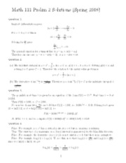 Calculus I-Exam2Solutions
