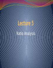 Lecture 5 - Ratio Analysis(3)