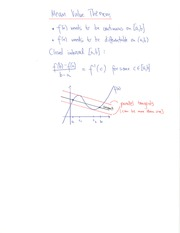 MATH 1251 Mean Value Theorem Notes