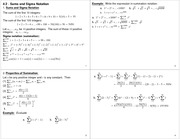 Lecture Notes on Sums and Sigma Notations