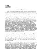 BWVW-Worldview Assignment Part 2 .docx