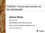 Force and function at the Nanoscale