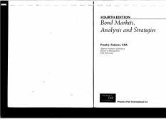 Bond Markets Analysis And Strategies Pdf