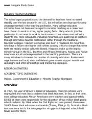 Minority Teacher Shortages Research Paper Starter - eNotes