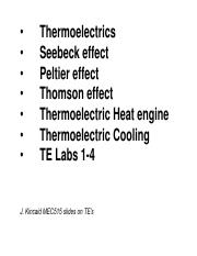 Thermoelectrics-1_MEC515 - Thermoelectrics Seebeck effect