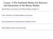 Lesson 4 - Instruments of the Money Market