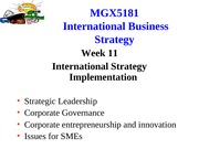 MGX5181 Week 11 2014 Leadership, Governance, SMEs