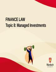 Topic 8 Managed Investments.pptx