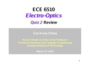 25. Quiz 2 Review  0327 2013