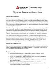 Signature Assignment Instructions (1)
