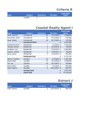 Coastal Realty Agent Commission Table with Subtotals
