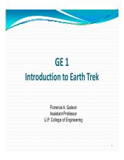 GE 1 - Introduction to Earth Trek