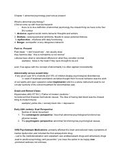 Abnormal psychology chapter 1 notes.pdf