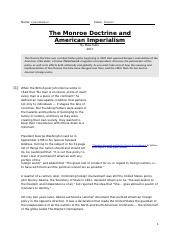 why was the monroe doctrine necessary