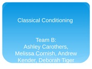 Wk 4 LTB Classical Conditioning