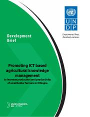 Promoting ICT based agricultural knowledge management to increase production and productivity of sma