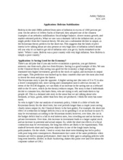 Application- Bolivian Stabilization Notes