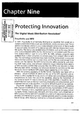Protecting innovation - The Digital Music Distribution Revolution