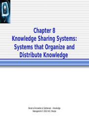 Ch8 Knowledge Sharing