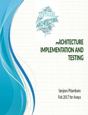 6.1. Architecture Implementation and Testing.pptx