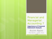 Financial and Managerial Accounting 7