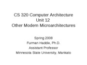 CS 320 Unit 12 Other Modern Microarchitectures