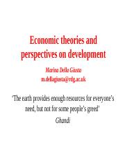 8Economic theories and perspectives on development1