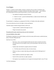 Notes 5 - Civil Rights[1]