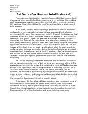 Bei Dao reflection 1.docx
