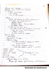 Manipulation notes