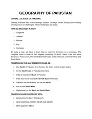 GEOGRAPHY OF PAKISTAN1