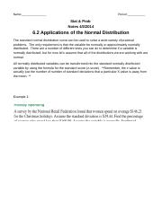 6.2 Applications of the Normal Distribution.docx