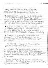 management communication classnote: evaluation of communication effectiveness