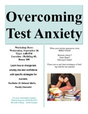 Test Anxiety Flyer