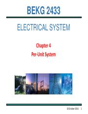 Chapter 4 PER UNIT SYSTEM