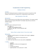 Fundamentals of GBA Programming