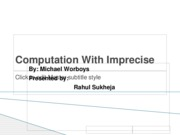 Computation With Imprecise Geospatial Data presentation