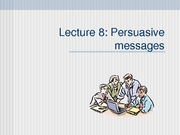 BCOM Session 8 Persuasive message